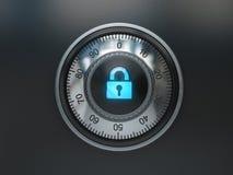 Безопасный замок с знаком padlock Предпосылка концепции безопасностью Стоковые Фото