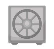 Безопасный значок, плоский дизайн Сейф изолированный на белой предпосылке Иллюстрация вектора, искусство зажима Стоковые Фото