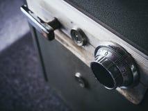 Безопасный код замка на конце банка коробки безопасности вверх Стоковое фото RF