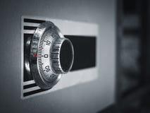 Безопасный код замка на предохранении от банка коробки безопасности Стоковые Изображения RF