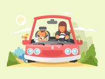 Безопасный управлять в автомобиле Стоковое Фото