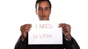 Безработное поколение Безработный мальчик сток-видео