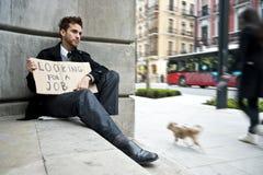 безработные человека Стоковые Фото
