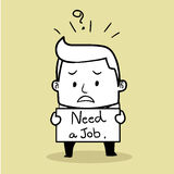 безработные человека бесплатная иллюстрация