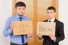 2 безработных люд ища работа. Стоковое Фото