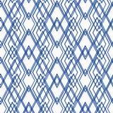 Безшовная абстрактная белая, голубая картина Стоковые Фото
