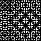 Безшовная абстрактная винтажная черная белая картина бесплатная иллюстрация
