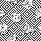 Безшовная абстрактная геометрическая картина в ретро стиле Мемфиса Стоковая Фотография