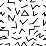 Безшовная абстрактная геометрическая картина в ретро стиле Мемфиса Стоковое Фото