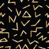 Безшовная абстрактная геометрическая картина в ретро стиле Мемфиса Стоковая Фотография RF