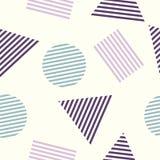 Безшовная абстрактная геометрическая картина, с треугольниками и кругами Стоковые Изображения