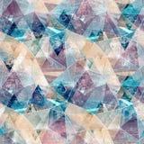 Безшовная абстрактная геометрическая полигональная картина Стоковые Изображения