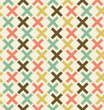 Безшовная абстрактная геометрическая предпосылка. Checkered картина. Вышитый декоративный фон шнурка Стоковая Фотография