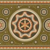Безшовная абстрактная граница текстуры мозаики картины tessellated бесплатная иллюстрация
