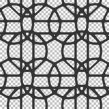 Безшовная абстрактная картина геометрических форм, кругов, полигонов Стоковая Фотография
