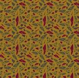Безшовная абстрактная картина: Осень; пурпур, мустард, темные ое-зелен и maroon бесплатная иллюстрация