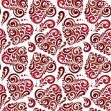Безшовная абстрактная картина сердца Стоковое Фото