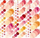 Безшовная абстрактная картина с кругами акварели яркими бесплатная иллюстрация