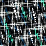 Безшовная абстрактная картина с предпосылкой черноты влияния акварели Стоковая Фотография