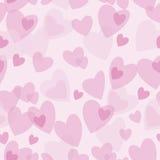 Безшовная абстрактная картина с розовыми сердцами Стоковые Изображения