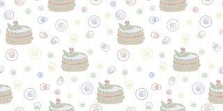 Безшовная абстрактная картина с тортом иллюстрация штока