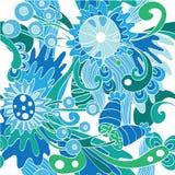 Безшовная абстрактная картина с цветками бесплатная иллюстрация