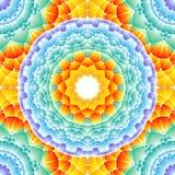 Безшовная абстрактная картина, яркая мандала Стоковые Фото
