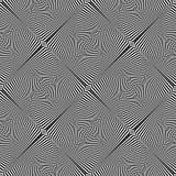 Безшовная абстрактная картина op искусства линии текстура Стоковые Изображения RF