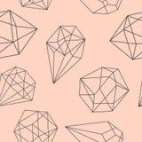 Безшовная абстрактная кристаллическая предпосылка Стоковое Изображение