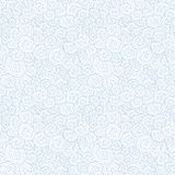 Безшовная абстрактная нарисованная вручную картина волн, волнистая предпосылка Стоковые Фотографии RF
