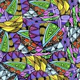 Безшовная абстрактная нарисованная вручную картина волн Стоковое Изображение