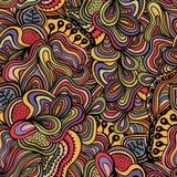 Безшовная абстрактная нарисованная вручную текстура волн Скопируйте тот квадрат к t Стоковые Изображения