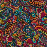 Безшовная абстрактная нарисованная вручную текстура волн Скопируйте тот квадрат к t Стоковые Фотографии RF