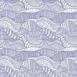 Безшовная абстрактная нарисованный вручную картина Стоковая Фотография RF
