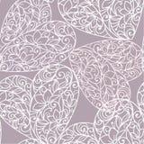 Безшовная абстрактная предпосылка с сердцами стоковое изображение