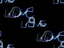 Безшовная абстрактная предпосылка на черной голубой и белой написанной влюбленности Стоковые Фотографии RF