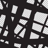 Безшовная абстрактная предпосылка от пересекать черные линии Стоковое Фото