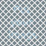 Безшовная абстрактная предпосылка сетки (решетки) - косоугольник Покрасьте белое керамическое с тенями Стоковая Фотография