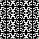 Безшовная абстрактная предпосылка, черная monochrome картина Стоковая Фотография