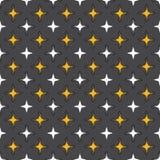 Безшовная абстрактная ретро геометрическая картина Смешанные прямоугольники и звезды в вертикальном плане иллюстрация штока