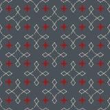 Безшовная абстрактная ретро геометрическая картина Смешанные прямоугольники и звезды в вертикальном и горизонтальном плане иллюстрация штока