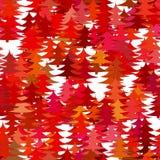 Безшовная абстрактная случайная предпосылка картины сосны - vector дизайн праздника рождества с красными стилизованными соснами Стоковое фото RF