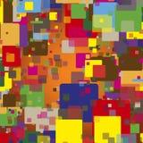 Безшовная абстрактная текстура квадратов стоковое изображение rf