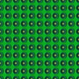Безшовная абстрактная текстура с геометрическими картинами в форме цветков Стоковое Фото