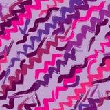 Безшовная абстрактная текстура с зигзагом нарисованным рукой Стоковая Фотография RF