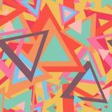Безшовная абстрактная текстура с треугольниками Стоковое Изображение
