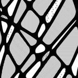 Безшовная абстрактная черно-белая предпосылка геометрических форм Стоковые Изображения