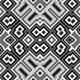 Безшовная абстрактная черно-белая предпосылка кубов Стоковая Фотография RF