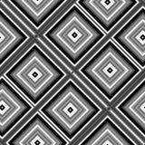 Безшовная абстрактная черно-белая предпосылка кубов Стоковая Фотография