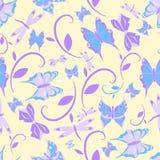 Безшовная бабочка текстуры стоковая фотография